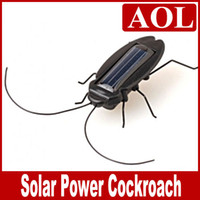 Wholesale Solar Battery Toys - Solar Power Energy Cockroach No Battery Children's Gift Toy Fun Gadget Dropshipping 10pcs