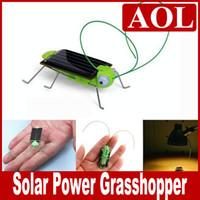 ingrosso robot giocattolo insetto-Romanzo giocattolo solare Solar Power Robot Insetto Bug Locust Green Grasshopper Toy kid con 6 gambe