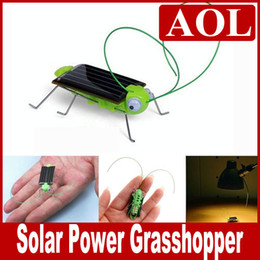 Wholesale Insect Toys Bug - Novel Solar Toy Solar Power Robot Insect Bug Locust Green Grasshopper Toy kid with 6 legs