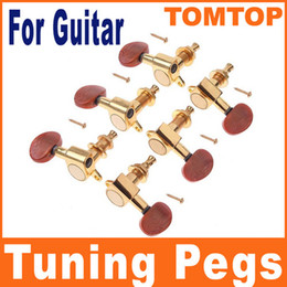 Wholesale Wholesale String Tuner - Golden Guitar String Tuning Pegs Tuners Machine Heads 3L+3R I53 6pcs set free shipping drop shipping