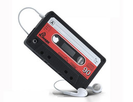 Wholesale Iphone Cassette Silicone - Tape Cassette iTape Deck Cassette Tape Cover Retro Cassette Tape Case case for iphone 50pcs 30pcs