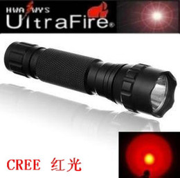 Wholesale Cree Red Hunting Lights - wholesale CREE 501B 3W LED Flashlight G60 red Light led Flashlight Torch G60 6P Free shipping
