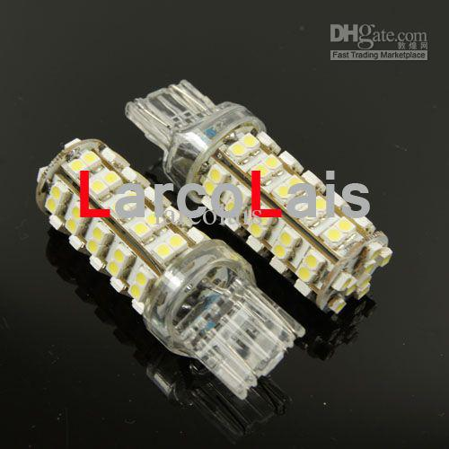 White 68 LED 7443 T20 1210 Car Turn Brake Reverse Tail Singal Indicator Stop Light Bulb Lamp