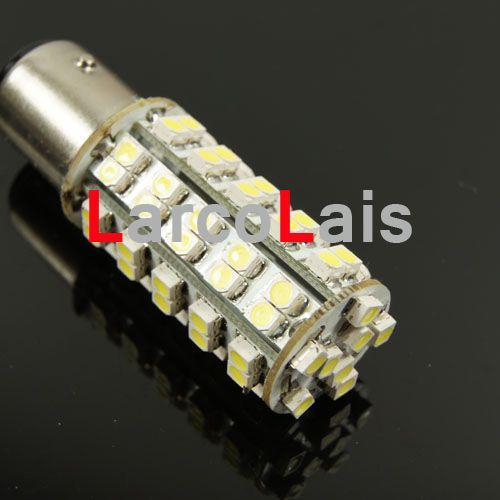 2 stücke Weiß 68 LED Lampe 1157 BAY15D 1210 Auto Turn Brake Reverse Schwanz Singal Anzeige Glühbirne