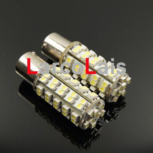 White 68 LED 1156 BA15S P21W 1210 Car Turn Lamp Brake Reverse Tail Singal Indicator Light Bulb