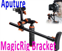 estabilizador de vídeo para cámara dslr al por mayor-Aputure MagicRig Video capture Stabilizer Rig Soporte de hombros para todas las videocámaras DSLR