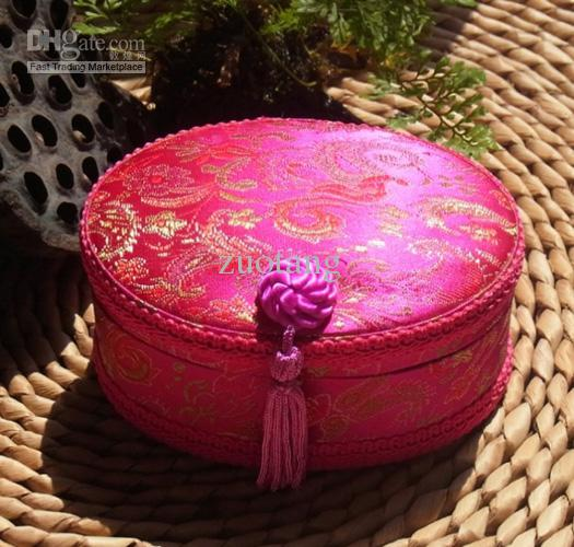 Decorative Christmas Gift Boxes Wholesale Silk Flower Tassel