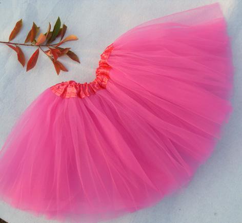 best selling Hot sell free shipping 50pcs lot neon pink adult ballet tutu dance tutu pettiskirt