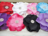 "Wholesale Diamond Center Flower - Trial Order Crystal Gem Diamond Center 2"" Mini Hydrangea Flower Head Flowers Photography Props 60pcs lot QueenBaby"