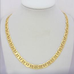 Wholesale 24k Gold Long Necklace Style - Noblest Party jewel Solid 24K yellow gold GP Filled necklace long chain womens mens fashion style