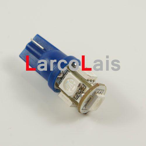 T10 194 168 5LED WEDGE 5050 Luz LED 3CHIPS LIGHT 5 SMD LED 558 585 655 656 657 1250 BULBOS Luces AZUL