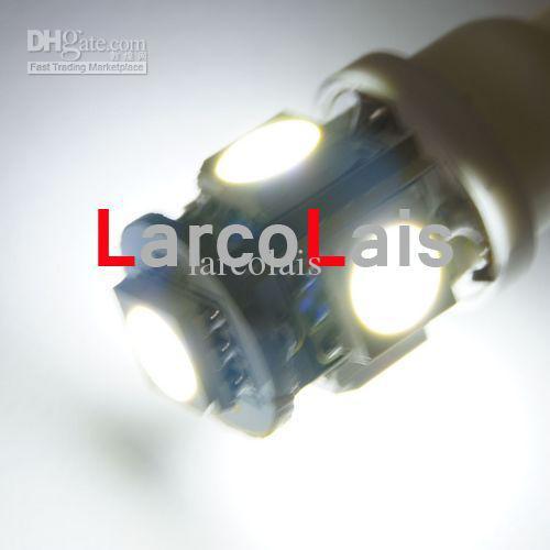 T10 194 168 5LED WEDGE Light 5050 3CHIPS LIGHT 5 SMD LED 558 585 655 656 657 1250 LED BULBS Lights WHITE