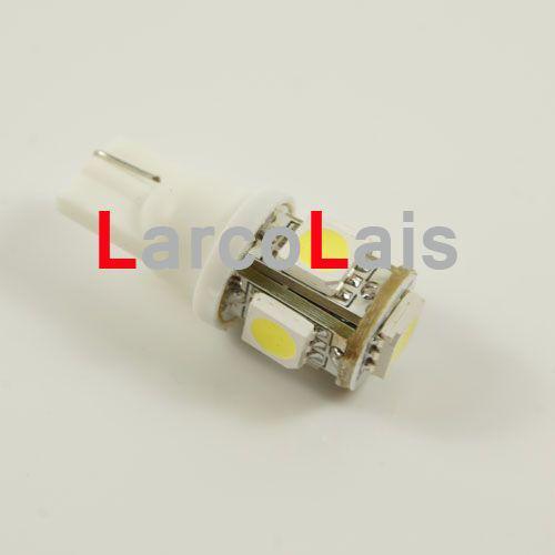 2 SZTUK T10 194 168 5LED Light 5050 3chips Light 5 SMD LED 558 585 655 656 657 1250 Żarówki LED światła biały