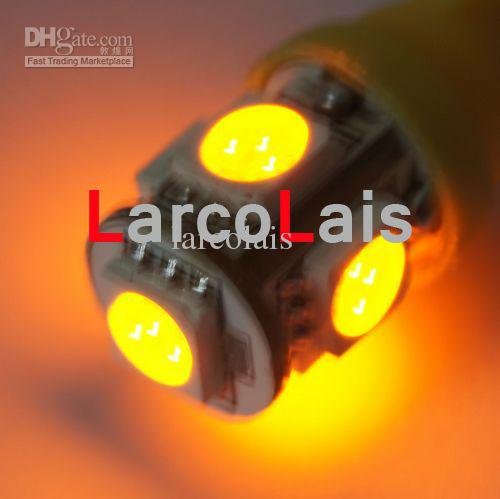 Ambra 5 SMD 5050 LED T10 Light W5W 194 168 3CHIPS 5LED Car Auto Luci LED 5-LED Lampadine lampadina