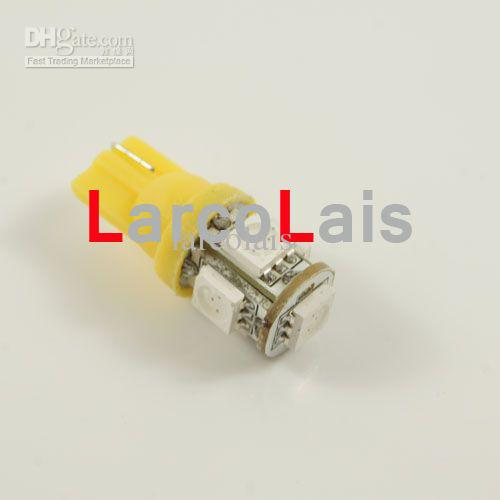 10ピース琥珀5 SMD 5050 LED T10ライトW5W 194 168 3チップ5Lled車の自動ライトライトLED 5 LED電球の電球ランプ