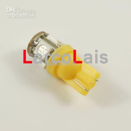 10 stücke Bernstein 5 SMD 5050 LED T10 Licht W5W 194 168 3CHIPS 5LED Auto Auto Licht Lichter LED 5-LED Glühbirnen Lampe
