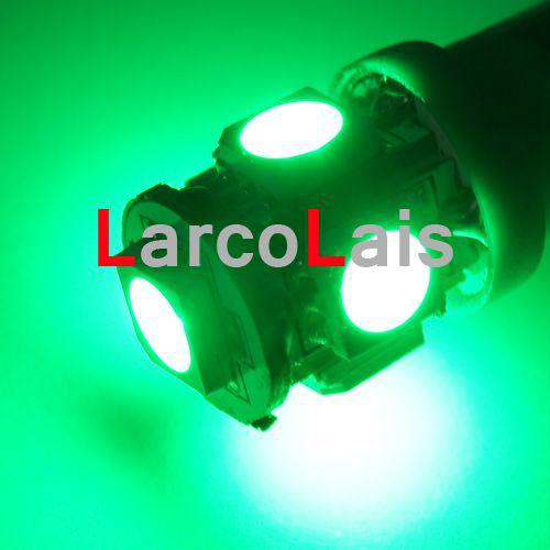 10 stks Groene Lampen Lamp 5 SMD 5050 LED T10 Lamp W5W 194 168 3CHIPS Auto Auto Light Lights Lamp 5LED 5-LED