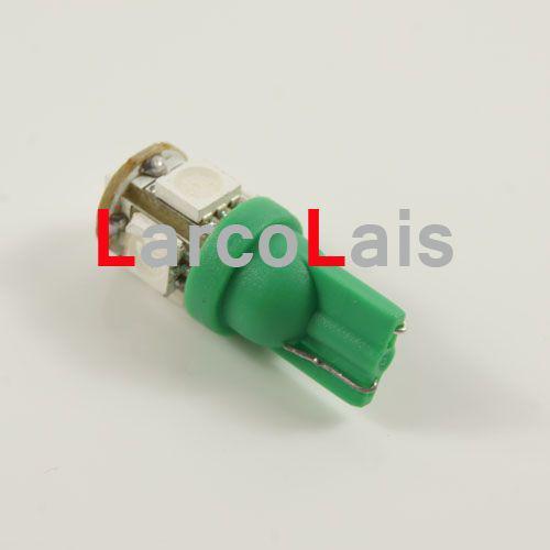 녹색 전구 램프 5 SMD 5050 LED T10 램프 W5W 194 168 3CHIPS 자동차 자동 조명 전구 5LED 5-LED