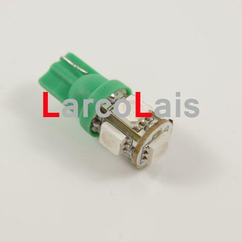 10 sztuk Green żarówki Lampa 5 SMD 5050 LED T10 Lampa W5W 194 168 3chips samochodowych samochodów Light Light Lights Bulb 5ed 5-LED