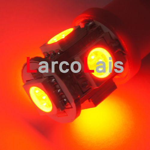 Красный 5 SMD 5050 LED Lamp T10 W5W 194 168 3CHIPS авто свет 5LED лампы 5-светодиодные лампы лампы