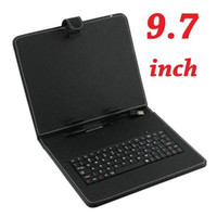 Wholesale Tablet Mid Keyboards - 9.7 inch USB Keyboard & Leather Case Cover Folio With Stylus for 9.7 inch Tablet PC MID U9GT2