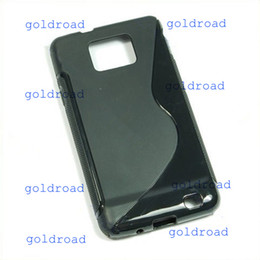 Wholesale Cover Case Silicone S2 - Freeshipping TPU Silicone Case Cover Fr Samsung Galaxy S2 II i9100 B