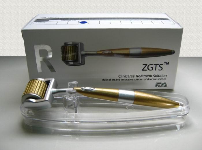 Dropship ZGTS derma Rolle 192 Titannadeln, Titanlegierungsnadel derma Rolle mit dem goldenen Griff,