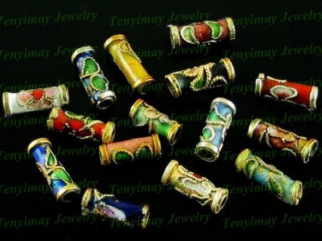 Mixed Color Cloisonne Enamel Beads Fit Jewelry Diy Vintage Jewelry