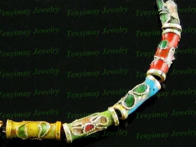 El envío libre mezcló las cuentas del esmalte del cloisonne en forma de joyería DIY, accesorios de la joyería de la vendimia