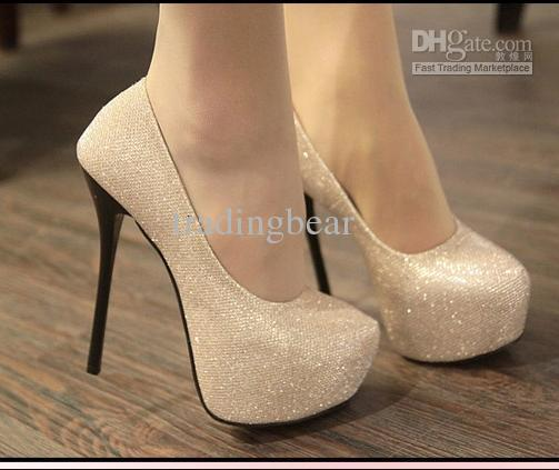2012-4 Evening Party Glittering High Platfrom Stiletto Heels 2 colors Women Fahsion Sexy Pumps