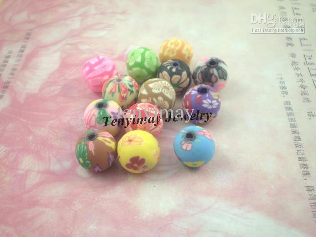 Perline in argilla polimerica spedizione gratuita, accessori gioielli in argilla colorata di colore 10mm all'ingrosso, perline sparse in argilla
