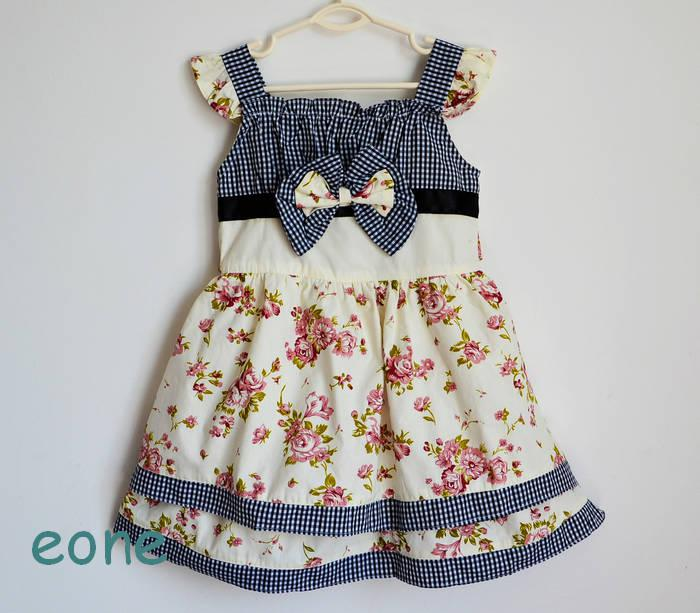 2017 Toddler Floral Print Cotton Dresses Kids Sleeveless Skirts ...