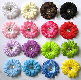 "Chinese  16 Colors 2"" Gerbera Daisy Children's Hair Accessories baby Girls Flower Clip Free shipping manufacturers"