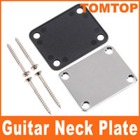 Wholesale Chrome Neck Plate for Electric Guitar with One Rubbermat Four Mounting Screws I79
