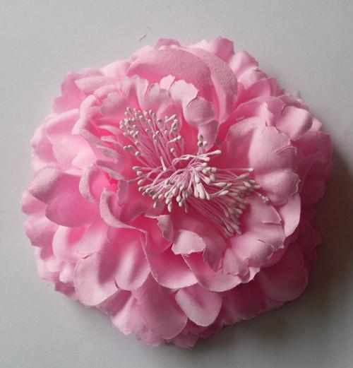 "4"" Gerbera Children's Hair Accessories Girls Head Flower Clip + 1.5"" Hair Headband Bow"