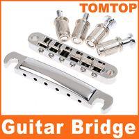 Wholesale Guitar Bridge Wholesale - String Chrome Tunomatic Bridge Stopbar Set for Gibson Guitar I80