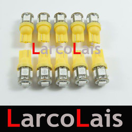 10pcs Amber 5 SMD 5050 LED T10 Light W5W 194 168 3CHIPS 5LED Car Auto Light Lights LED 5-LED Bulb Bulbs Lamp
