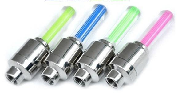 자전거 자동차 밸브 캡 라이트 타이어 휠 라이트 네온 LED 램프 4 색, /