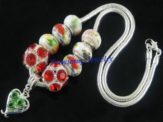 Collar de cadena plateado de la serpiente con broche de langosta para la joyería DIY envío gratis