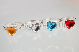 Assorted Wholesale Rings Canada - Rings Jewelry assorted acryl Silver Tone Ring 100pcs include box Children kid jewelry