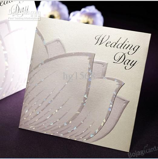 YGB151 Fast Shipping Wedding Favors Invitation Card/Wedding Invitations/ Wedding Cards 50pcs/lot