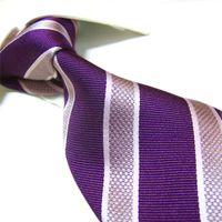 Wholesale Extra Long Mens Tie - Mens Extra Long Necktie Imitated 100% SILK Stripe Tie Plain jacquard ties 155cm 45pcs lot#2033