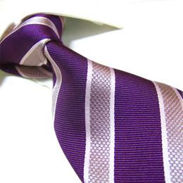 Wholesale mens long silk ties - Mens Extra Long Necktie Imitated 100% SILK Stripe Tie Plain jacquard ties 155cm 45pcs lot#2033