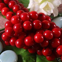Venta al por mayor de Elija un tamaño de 3 mm, 4 mm, 6 mm, 8 mm, 10 mm 1 hebra 15 pulgadas natural del Mar Rojo Coral Piedra preciosa Redonda Bola lisa Perlas sueltas Resultados Envío gratuito