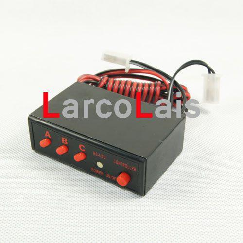 10 Sätze Auto Multifunktions 2x40 LED Blitzlicht Rücklicht Rot Weiß Blau Warnung Flash Controller 80LED