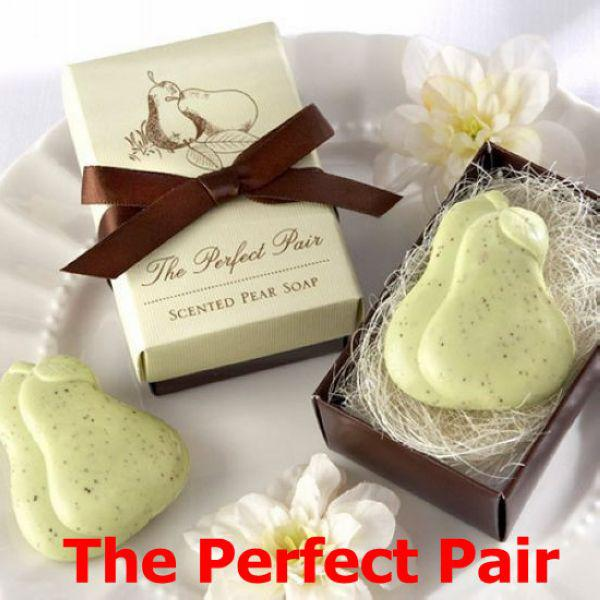 Perfect Wedding Gift Ideas: The Perfect Pair Pear Shaped Bath Soap Wedding Favors