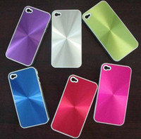 Wholesale Iphone 4s Metallic - Plastic Hard Back Cover Case for Apple iphone 4 4G 4S CD Pattern Metallic Aluminum Pouch Accessories