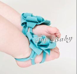 faixas de pé de flor de bebê Desconto 5pcs novo! TOP BEBÊ Bebê Pé Flor Pés Banda Foot Ties Sandálias Com Os Pés Descalços Do Bebê Primeiros Caminhantes Sapatos