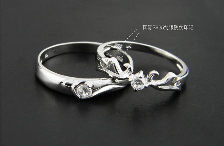 Fashion Silver Couple Rings Bridal Rings Engagement Rings Swiss