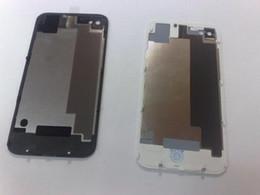 iphone back cover verre noir Promotion Couverture arrière de logement pour iphone 4S Glass Couverture de batterie arrière BLANC NOIR 100pcs EMS DHL livraison gratuite